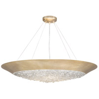 Arctic Halo 3 Light 32 inch Gold Leaf Chandelier Ceiling Light