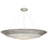 Arctic Halo 3 Light 32 inch Silver Leaf Chandelier Ceiling Light