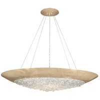 Arctic Halo 3 Light 44 inch Gold Leaf Pendant Ceiling Light