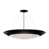 Fine Art Lamps 876540-2ST Arctic Halo 3 Light 44 inch Black Pendant Ceiling Light