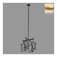 Monceau 4 Light 18 inch Gold Leaf Chandelier Ceiling Light
