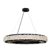 Fine Art Lamps 878040-2ST Arctic Halo 16 Light 38 inch Black Pendant Ceiling Light