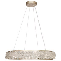 Arctic Halo 12 Light 30 inch Gold Leaf Chandelier Ceiling Light