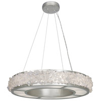 Fine Art Lamps Arctic Halo 12 Light Chandelier in Silver Leaf 878140ST