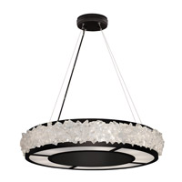 Fine Art Lamps 878140-2ST Arctic Halo 12 Light 30 inch Black Chandelier Ceiling Light