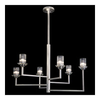 Neuilly 6 Light 36 inch Silver Chandelier Ceiling Light