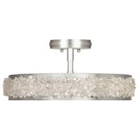 Fine Art Lamps 879940ST Arctic Halo 3 Light 23 inch Silver Semi-Flush Mount Ceiling Light