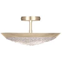 Fine Art Lamps 880040-1ST Arctic Halo 3 Light 20 inch Gold Semi-Flush Mount Ceiling Light