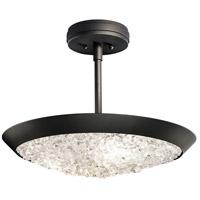Fine Art Lamps 880040-2ST Arctic Halo 3 Light 20 inch Black Semi-Flush Mount Ceiling Light