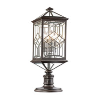 Fine Art Lamps 880380ST Oxfordshire 4 Light 30 inch Bronze Outdoor Adjustable Pier/Post Mount