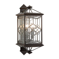 Oxfordshire 4 Light 33 inch Bronze Outdoor Wall Mount