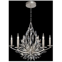 Fine Art Lamps 881140ST Lily Buds 6 Light 34 inch Silver Chandelier Ceiling Light