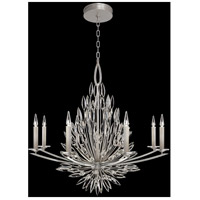 Fine Art Lamps 881240ST Lily Buds 8 Light 41 inch Silver Chandelier Ceiling Light
