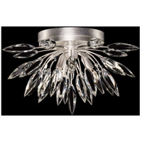 Fine Art Lamps 881440ST Lily Buds 3 Light 19 inch Silver Flush Mount Ceiling Light