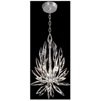 Fine Art Lamps 881540ST Lily Buds 3 Light 12 inch Silver Pendant Ceiling Light