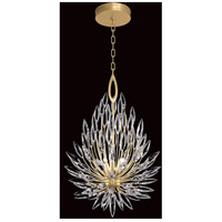 Fine Art Lamps 881640-1ST Lily Buds 3 Light 19 inch Gold Pendant Ceiling Light