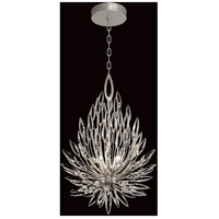 Fine Art Lamps 881640ST Lily Buds 3 Light 19 inch Silver Pendant Ceiling Light