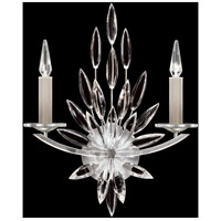 Fine Art Lamps 881750ST Lily Buds 2 Light 17 inch Silver Sconce Wall Light