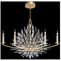 Fine Art Lamps 883240-1ST Lily Buds 6 Light 48 inch Gold Chandelier Ceiling Light