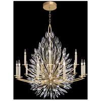 Fine Art Lamps 883340-1ST Lily Buds 15 Light 50 inch Gold Chandelier Ceiling Light