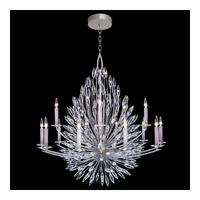 Fine Art Lamps 883340ST Lily Buds 15 Light 50 inch Silver Chandelier Ceiling Light