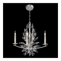 Lily Buds 4 Light 27 inch Silver Chandelier Ceiling Light