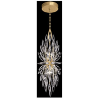 Fine Art Lamps 883740-1ST Lily Buds 4 Light 13 inch Gold Pendant Ceiling Light