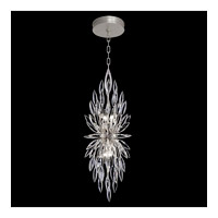 Fine Art Lamps 883740ST Lily Buds 4 Light 13 inch Silver Pendant Ceiling Light