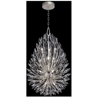 Fine Art Lamps 883940ST Lily Buds 12 Light 34 inch Silver Pendant Ceiling Light