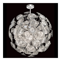 Chrysanthemums 14 Light 31 inch Silver Pendant Ceiling Light