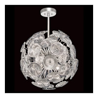 Chrysanthemums 9 Light 21 inch Silver Pendant Ceiling Light