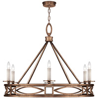Fine Art Lamps 887640-1ST Cienfuegos 6 Light 38 inch Bronze Chandelier Ceiling Light