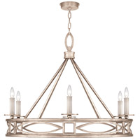 Fine Art Lamps 887640-2ST Cienfuegos 6 Light 38 inch Gray Chandelier Ceiling Light