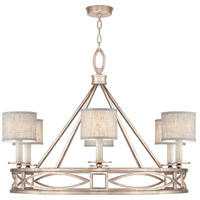 Fine Art Lamps 887640-21ST Cienfuegos 6 Light 40 inch Gray Chandelier Ceiling Light