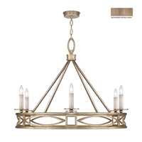 Cienfuegos 6 Light 38 inch Weathered Gray Patina Chandelier Ceiling Light