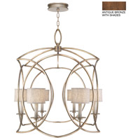 Fine Art Lamps 887840-11ST Cienfuegos 6 Light 36 inch Bronze Pendant Ceiling Light
