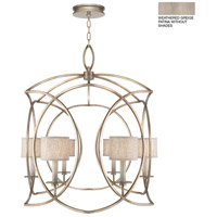 Fine Art Lamps 887840-2ST Cienfuegos 6 Light 35 inch Gray Pendant Ceiling Light