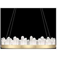 Fine Art Lamps 888440-2ST Lior LED 41 inch Gold Pendant Ceiling Light