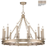Fine Art Lamps 888640-2ST Cienfuegos 12 Light 31 inch Gray Chandelier Ceiling Light