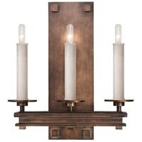 Fine Art Lamps 888950-1ST Cienfuegos 3 Light 14 inch Bronze Wall Sconce Wall Light