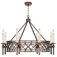 Fine Art Lamps 889440-1ST Cienfuegos 8 Light 38 inch Bronze Chandelier Ceiling Light