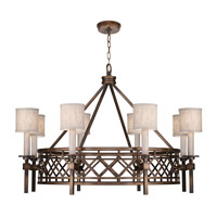Fine Art Lamps 889440-11ST Cienfuegos 8 Light 39 inch Antiqued Bronze Chandelier Ceiling Light