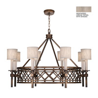 Fine Art Lamps 889440-21ST Cienfuegos 8 Light 39 inch Weathered Gray Patina Chandelier Ceiling Light