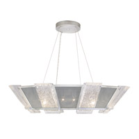 Fine Art Lamps 890640-12ST Crownstone 16 Light 38 inch Silver Pendant Ceiling Light