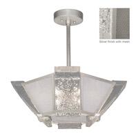Fine Art Lamps 891340-12ST Crownstone 4 Light 23 inch Silver Semi-Flush Mount Ceiling Light