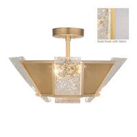 Fine Art Lamps 891340-21ST Crownstone 4 Light 23 inch Gold Semi-Flush Mount Ceiling Light