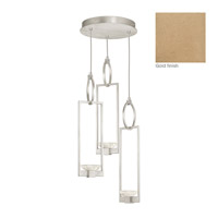 Delphi 3 Light 19 inch Gold Pendant Ceiling Light