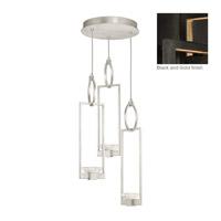 Fine Art Lamps 892940-3ST Delphi LED 19 inch Black Pendant Ceiling Light