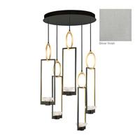 Fine Art Lamps 893040-1ST Delphi LED 27 inch Silver Pendant Ceiling Light