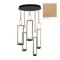 Fine Art Lamps 893040-2ST Delphi LED 27 inch Gold Pendant Ceiling Light